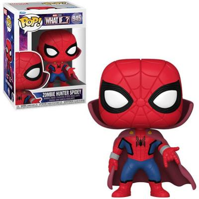 Marvel what if bobble head pop n 945 zombie hunter spidey