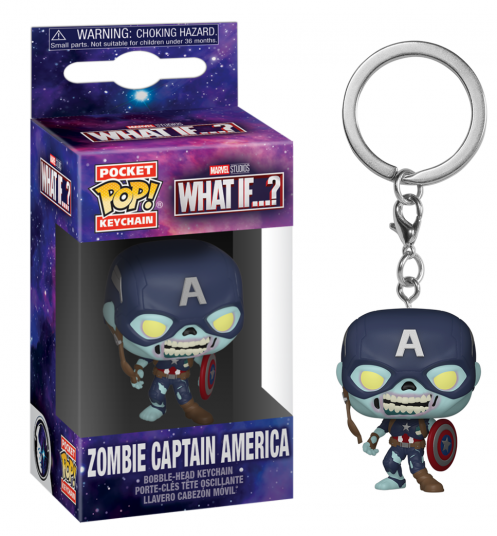 Marvel what if pocket pop keychains zombie captain america