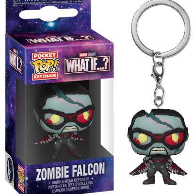 Marvel what if pocket pop keychains zombie falcon