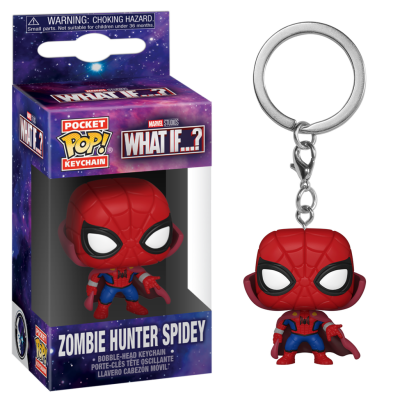 Marvel what if pocket pop keychains zombie hunter spidey