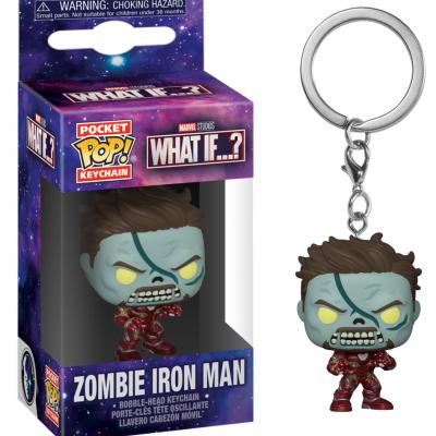 Marvel what if pocket pop keychains zombie iron man
