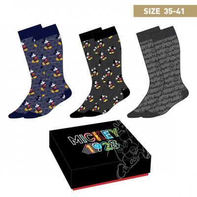 Mickey mouse pack de 3 paires de chaussettes p35 41