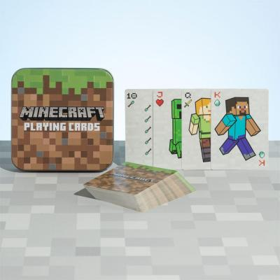 Minecraft joueurs jeu de cartes a jouer