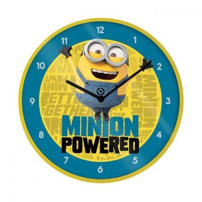 Minions the rise of gru horloge en plastique diametre 25cm