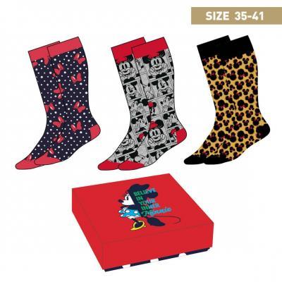Minnie mouse pack de 3 paires de chaussettes p35 41