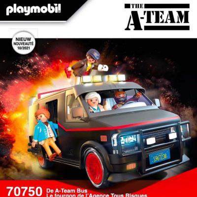 Movie cars fourgon de l agence tous risques playmobil