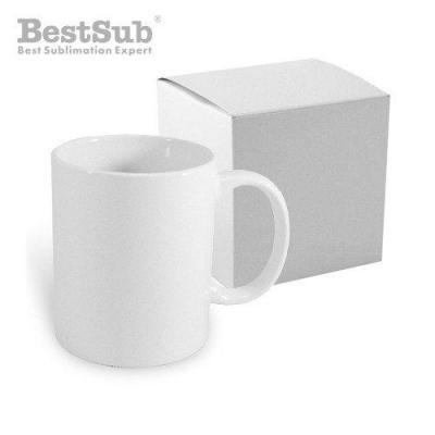 Mug blanc eco 330 ml avec boite sublimation transfert thermique eu eu kecokubek6