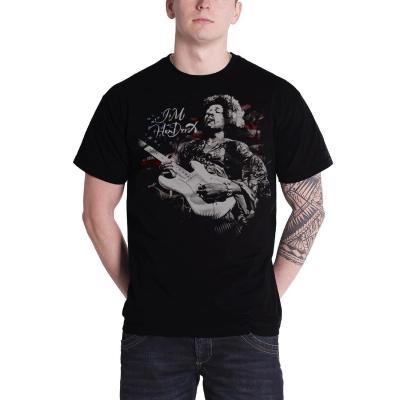 Music t shirt jimi hendrix flag