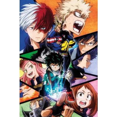 My hero academia characters poster 61x91 5cm