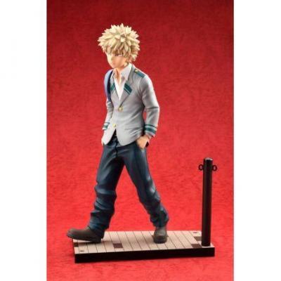 My hero academia katsuki bakugo uniform statuette bellfine 23cm 4
