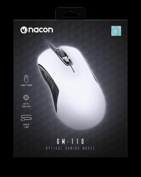 Nacon optical gaming mouse 110 white 1