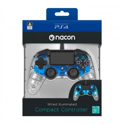Nacon wired official controller clear blue ps4