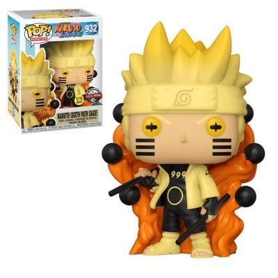 Naruto bobble head pop n 932 naruto six path page glow
