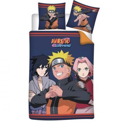 Naruto friends parure de lit 140x200cm 100 microfibre
