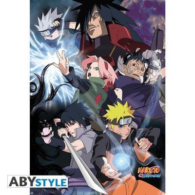 Naruto groupe guerre ninja poster 91x61