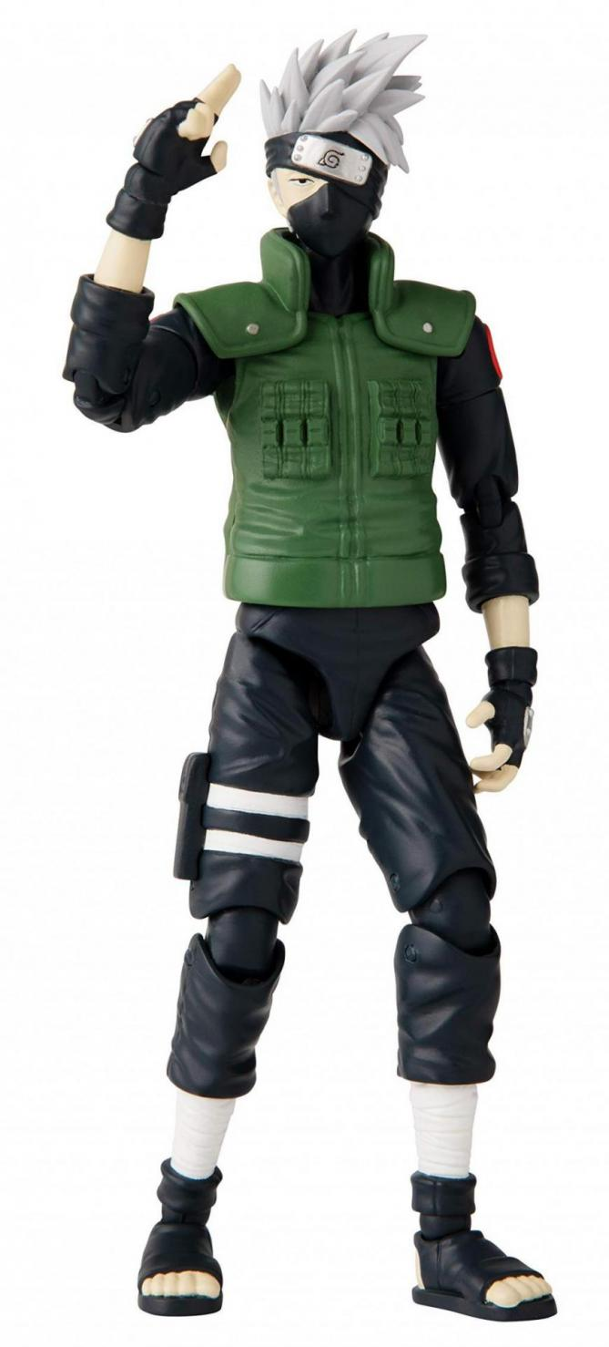 Naruto hatake kakashi figurine anime heroes 17cm 1