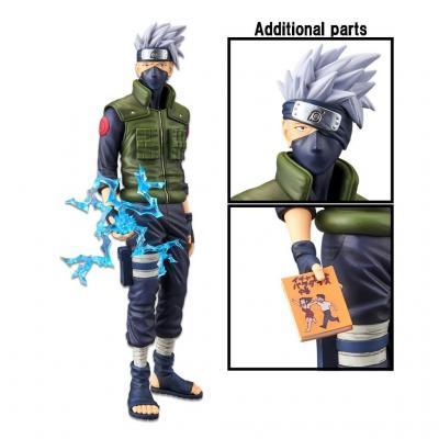 Naruto hatake kakashi figurine grandista nero 29cm