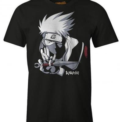 Naruto kakashi t shirt homme