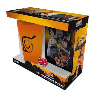 Naruto pack verre 400ml pin s carnet a6