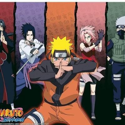 Naruto shippuden groupe tapis de souris 23 5x19 5cm