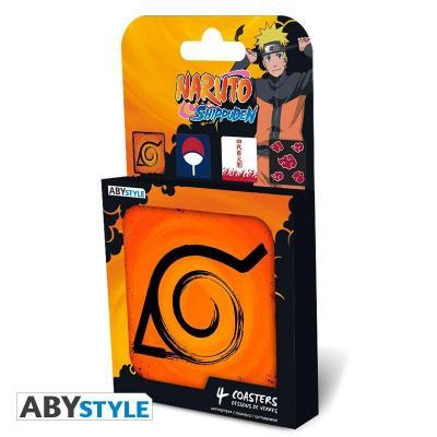 Naruto shippuden pack de 4 dessous de verre