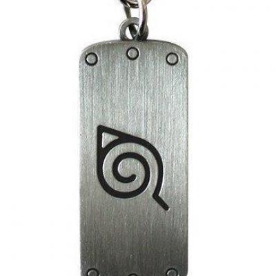 Naruto shippuden porte cles metal symbole