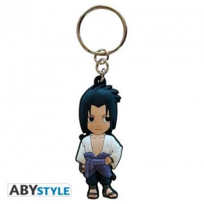 Naruto shippuden porte cles pvc sasuke