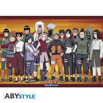Naruto shippuden poster 91x61 ninja konoha