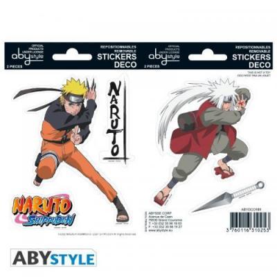 Naruto stickers 16x11cm 2 planches naruto jiraiya