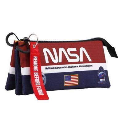 Nasa mission trousse 3 compartiments 11x23x14cm