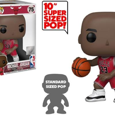 Nba bulls bobble head pop n 75 michael jordan oversized 10inch