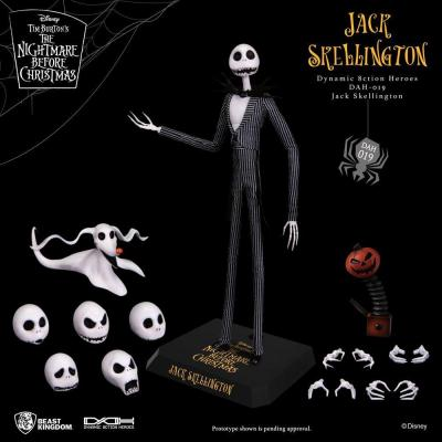 Nbx jack skellington figurine articulee dynamic action heroes 21cm