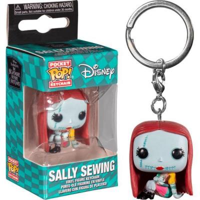 Nightmare before christmas pocket pop keychains sally sewing