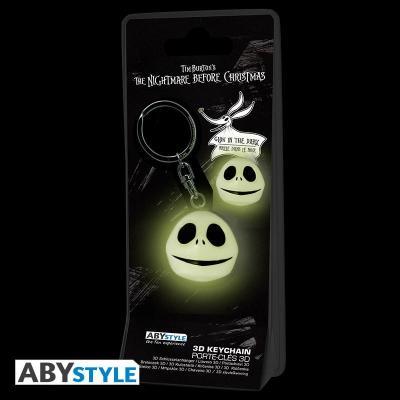 Nightmare before xmas porte cles 3d jack glow in the dark 2