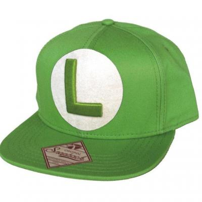 Nintendo casquette green snapback with luigi logo