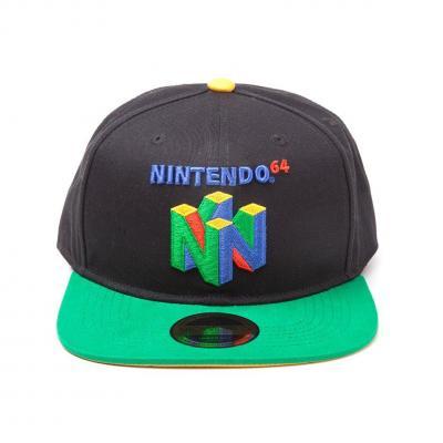 Nintendo casquette snapback nintendo 64 logo