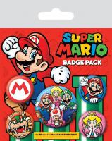 Nintendo pack 5 badges super mario 1