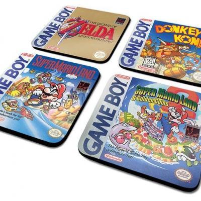 Nintendo pack de 4 dessous de verre gameboy classic collection