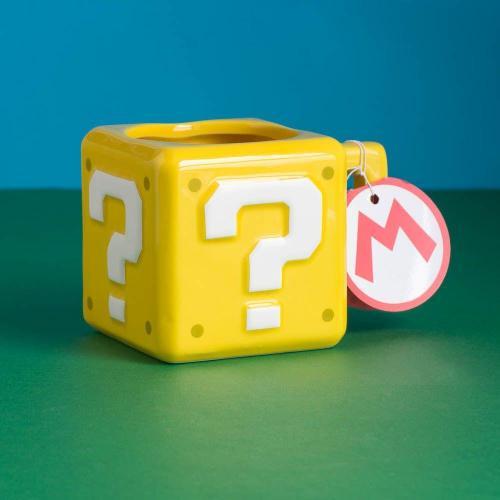 Nintendo question block 3d mug