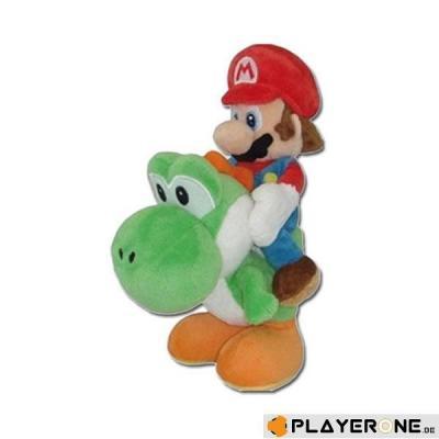 Nintendo super mario peluche mario and yoshi 22 cm