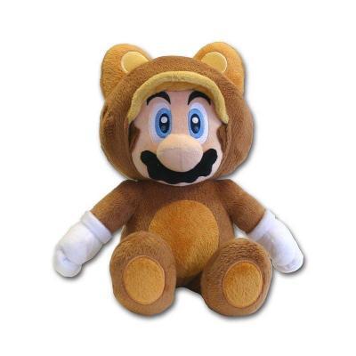 Nintendo super mario peluche tanooki mario 21 cm