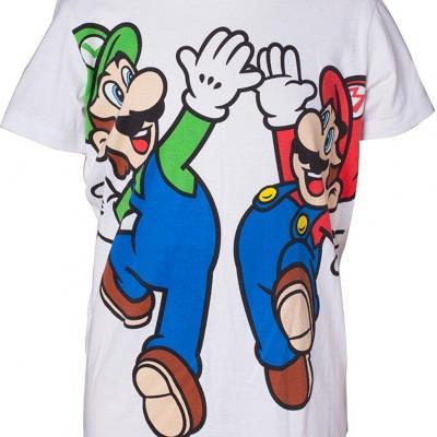 Nintendo t shirt boy s mario luig