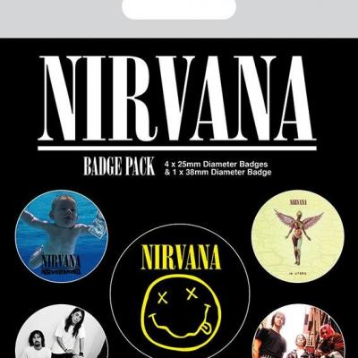 Nirvana pack 5 badges iconic