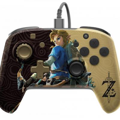 Official faceoff deluxe audio wired zelda controller
