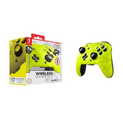 Official faceoff deluxe wireless yellow controller new camo