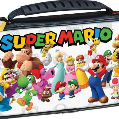 Official mario friends white travel case for nintendo switch