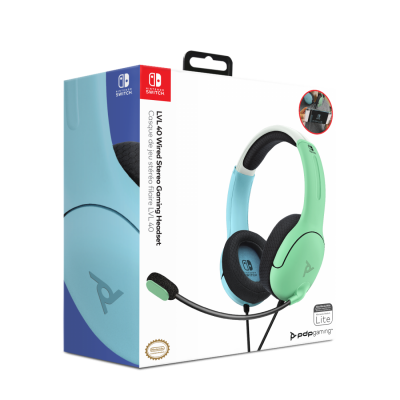 Official nintendo wired headset lvl40 switch blue green