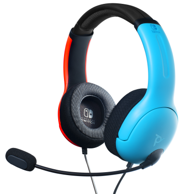 Official nintendo wired headset lvl40 switch blue red