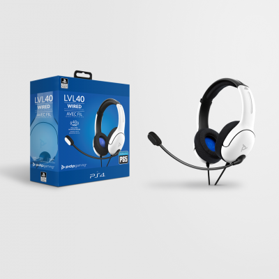 Official playstation wired headset lvl40 ps4 ps5 white