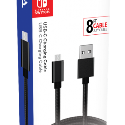 Official switch pro charging cable usb c 2 4 m